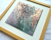 Glass art picture- OOAK handpainted fused glass, iridescent, fused glass, glass art
