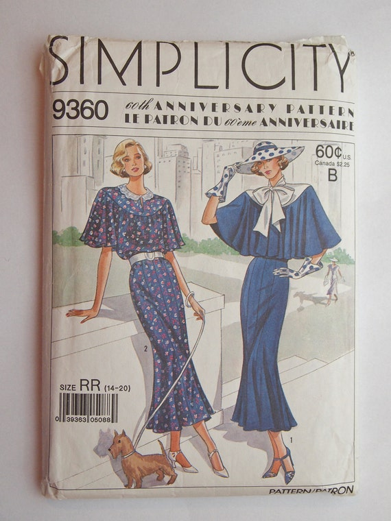 Vintage Simplicity 60th Anniversary Sewing Pattern Sizes 14 - 20