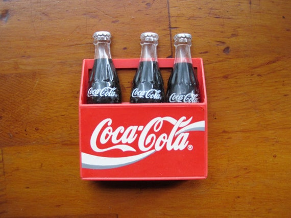 TWO SETS Vintage Coca-Cola magnets - RESERVED for Curtis Glass
