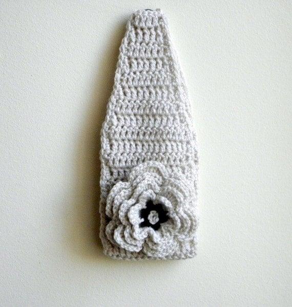 PDF crochet pattern, woman headband,  woman earwarmer, headband flower , wedding, bridal, boho, DIY tutorial