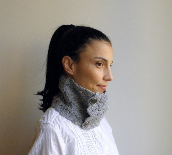 Lace Neckwarmer / cowl  PDF crochet pattern -  DIY tutorial - Quick and easy gift