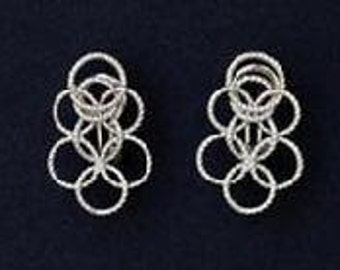 Sterling silver Olympia circle earrings