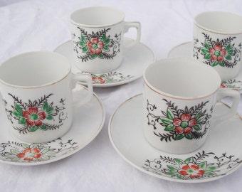 Miniature handpainted Japan cup & saucer set