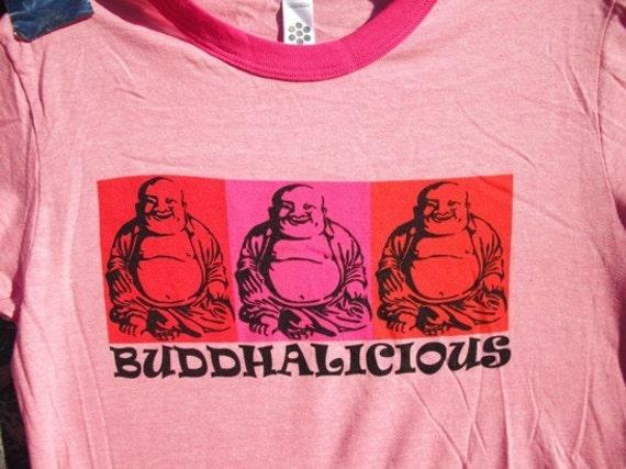 Buddhalicious - Pink Womens T-shirt