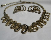 1960s Necklace Earrings Sarah Coventry - Vintage Rhinestones - Bridal Fashions