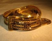 RESERVED Vintage 1940s Whiting Davis Belt - Golden Mesh Old Hollywood - Bridal Fashions