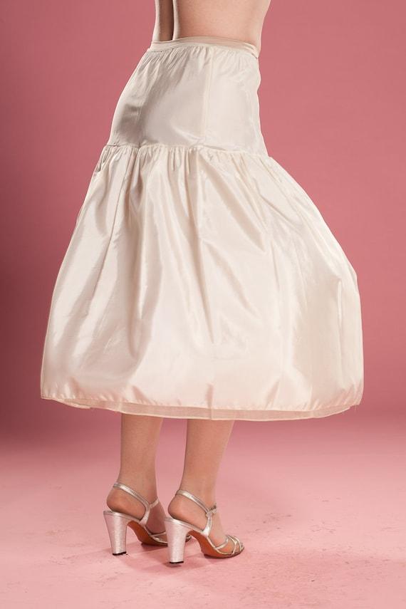Vintage 1940s Wedding Petticoat 1950s Half Slip Crinoline