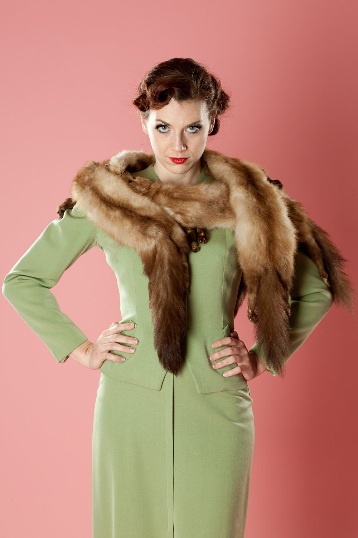 Vintage 1950s mink fur stole scarf wedding wrap bridal fall for Kunstleder fur stuhle