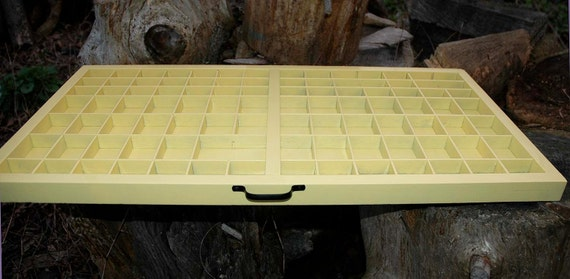 Spring Yellow Type Tray Shadow Box for Jewelry Collectible Display