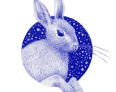 "Cosmic Bunny / 12"" Screen Print"