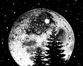 Moon In The Pines Screenprint