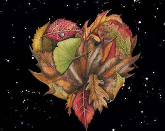 Leaf Heart / Glossy poster