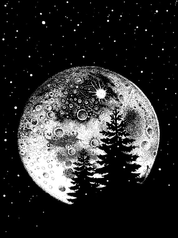 Moon In The Pines Screenprint