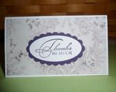 Mini Vintage Purple Thank You Card Set - 5