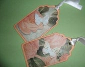 Peach Rose and Butterfly Gift Tag - 6