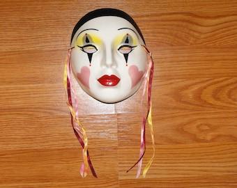 Vintage Ceramic Mardi Gras Mask