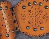 Leather Filigreed Wrist Cuffs