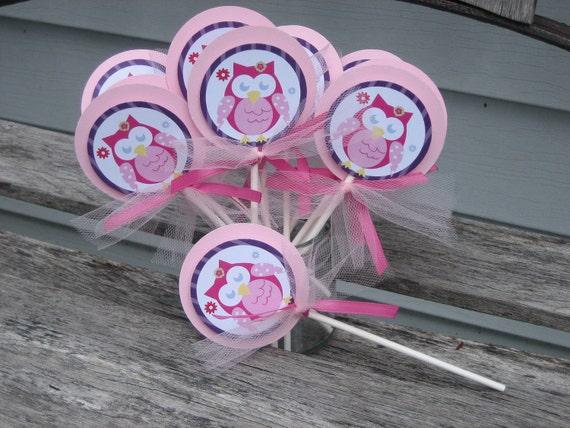 Owl Blossom Cake Topper