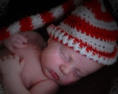 Newborn, Infant, Toddler, Dr. Suess, night cap, Hat Striped (elf, pixi)