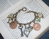 Time Money and Other Things Charm Bracelet