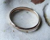 14k Rose Gold Wedding Band / stacking ring / 1mm