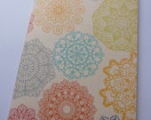 multicolor lacy like notebook