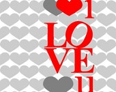i LOVE u pdf printable card (letter sized - A4 to be folded in 2)