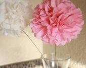 Mini Tissue Pom Pom Stemmed set  3 poms - choose your colors - Holiday Table Decoration - Centerpiece