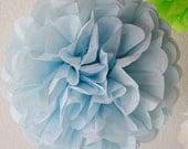 Light Blue Single Tissue Paper Pom SALE