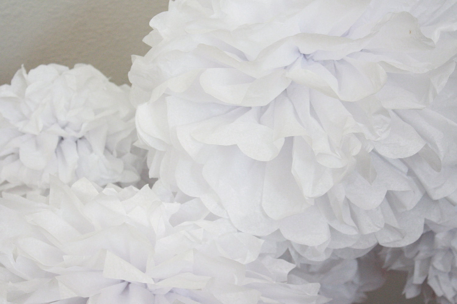 50 Tissue Paper Pom Poms -Your Color Choice- Rustic Barn Wedding ...