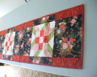 Climbing Rose Quilted Tablerunner Clearance Sale