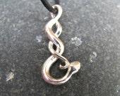 Silver Snake Necklace, Snake Jewelry Halloween Jewelry