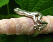 Frog Prince Ring Sterling Silver, Eco Friendly