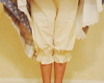 Girls Muslin Prairie Bloomers or Pioneer Bloomers/Adjustable Girls Bloomers