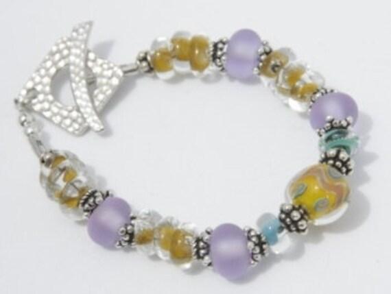 Reserved for Pya Summer Delight Handmade Lampwork bracelet