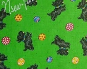 Mary Engelbreit SCOTTY Dog & Ball Cotton Fabric on Green BTY