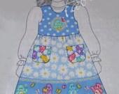 Care Bears Fabric Dress Jumper - Pattern Kit Includes Bodice Panel & Skirt Fabric - Sizes 2 thru 8