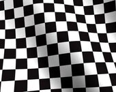 "Nascar Checkered Flag Fabric Race Car Checks Motorcycle Dirt Bikes - 1/4"" squares"