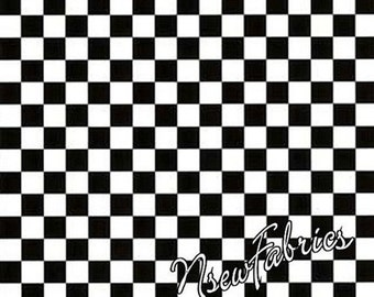 Mary Engelbreit Fabric Black and White Checks Cotton Quilt BTY
