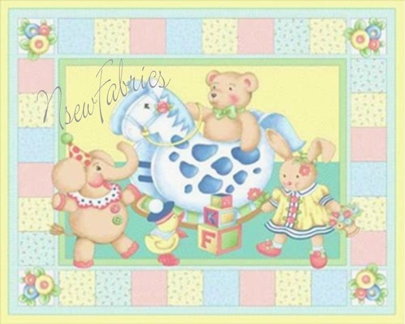 Mary Engelbreit Fabric Quilt Panel Baby TOY Cuties XLG - Mother Goose