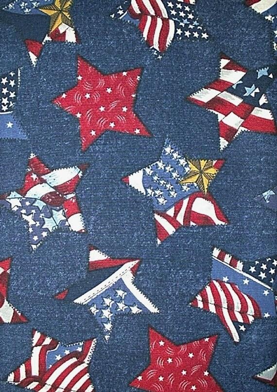 American Flag Fabric Americana Stars & Stripes RED WHITE BLUE