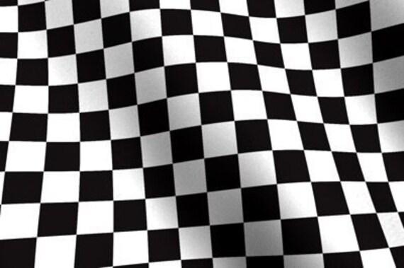 Items Similar To Nascar Checkered Flag Fabric Race Car Checks