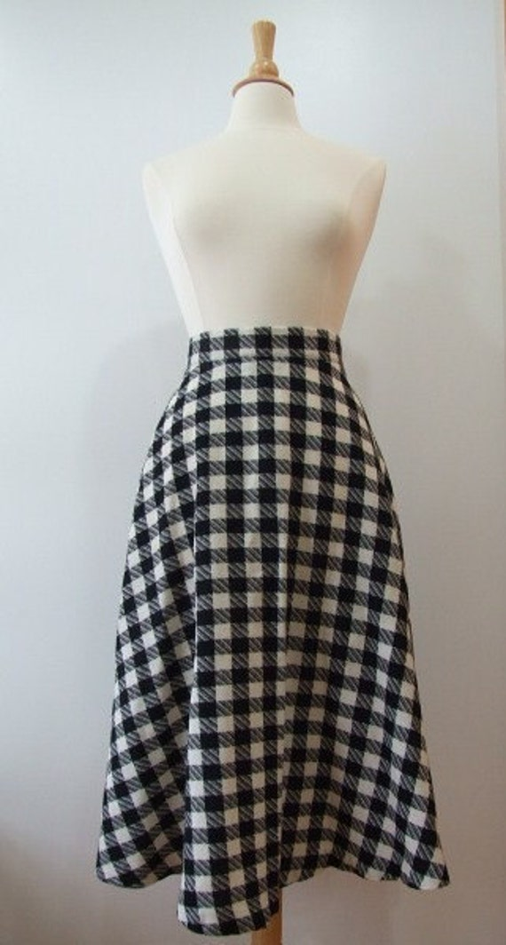 Black and White Checker Skirt