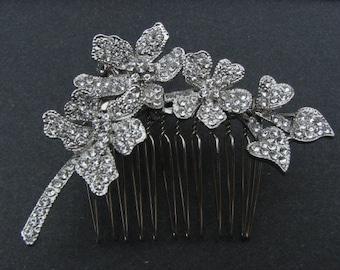 Wedding hair comb Rhinestone Bridal hair comb vintage Wedding headpiece Bridal hair piece Wedding haircomb Bridal hair accessory Bridal comb