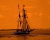 Golden Ship-Fine Art Photography 5x7