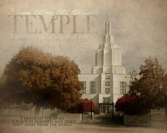 Idaho Falls LDS Temple Print 16x20
