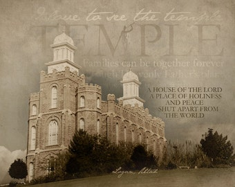 Logan Utah LDS Temple Print 16x20