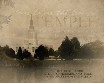 Idaho Falls  Idaho LDS Temple Print 16x20
