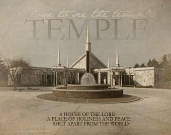 Chicago Illinois LDS Temple Print