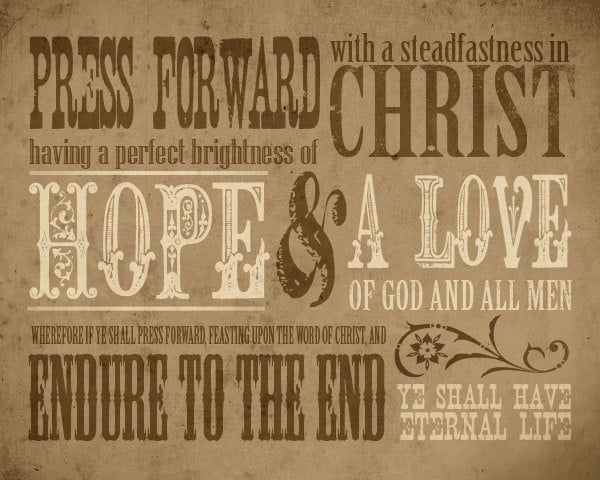Lds Quotes For Youth: 2016 LDS Youth Theme Press Forward Print
